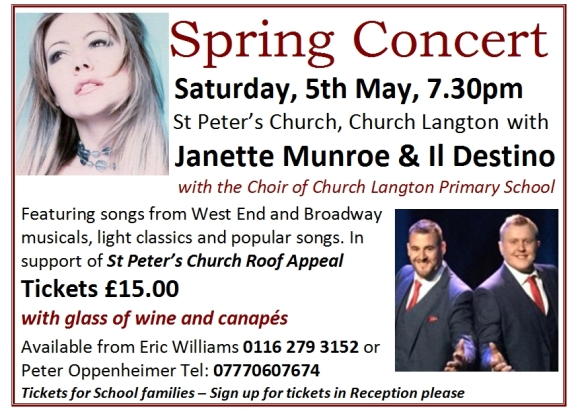 Advert for St Peter's Spring Concert 2018