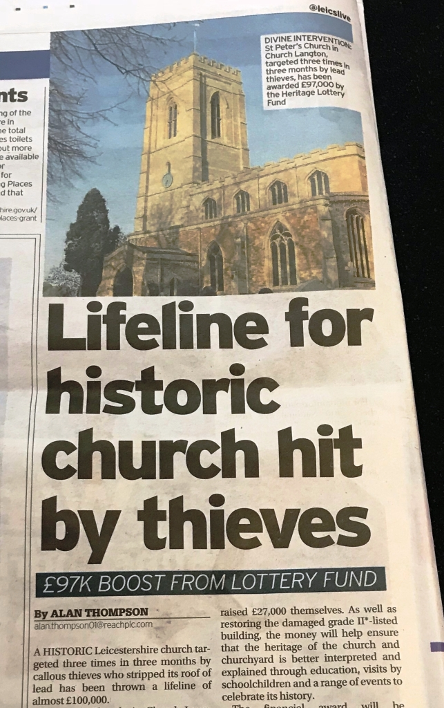 Press Release - Theft of lead St Peter's Church