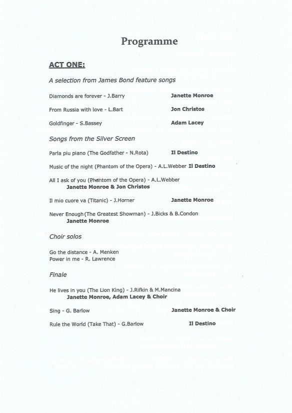Spring Concert 2018 - Programme, Act 2