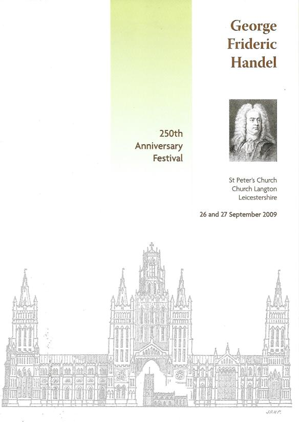 250th Anniversary programme - Handel's Messiah at Church Langton, 2009, Front cover