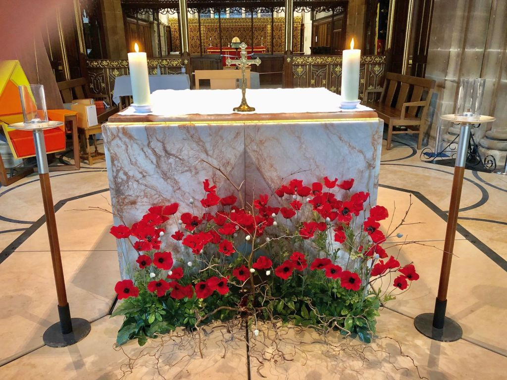 Th altar at Leicester Cathedral