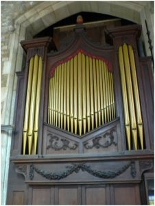 St Peter's: Organ housing