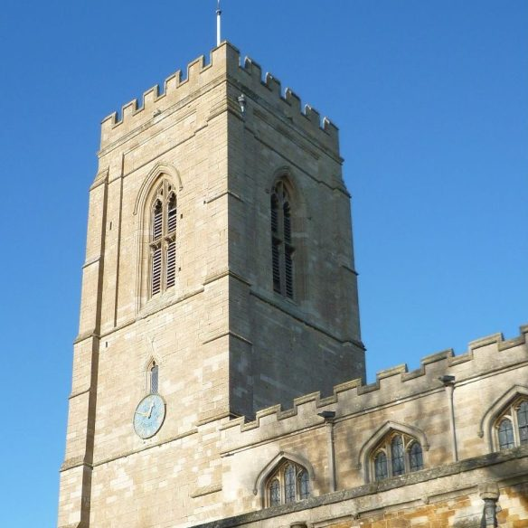 St Peter's Church Langton, Tower in Autumn 2020