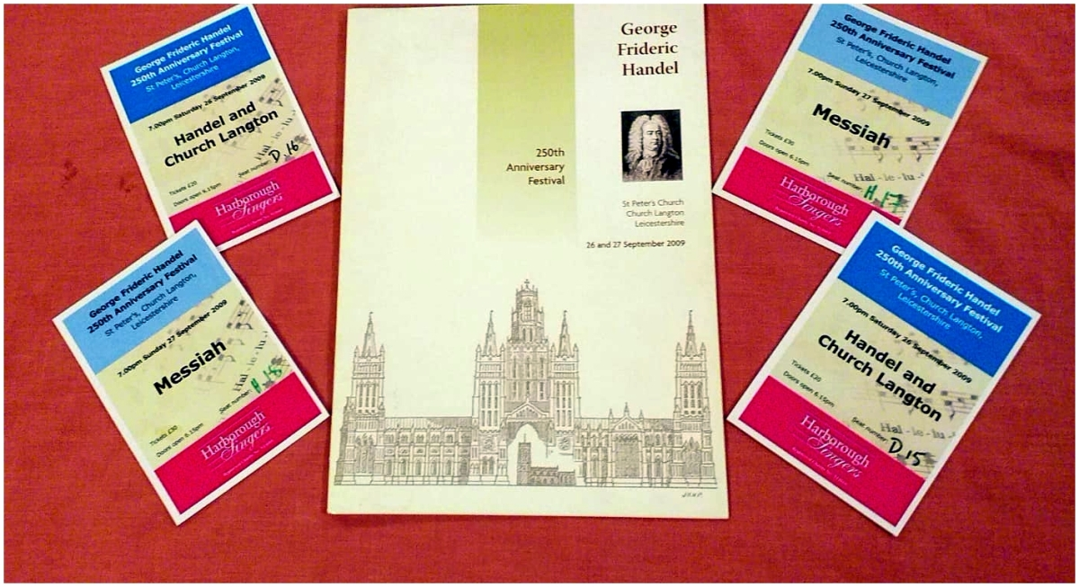 St Peter's Church - 250th Anniversary, 'Messiah' Programme and tickets