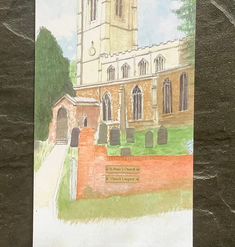 St Peter's Church bookmarks, by Eric Peplow, Detail